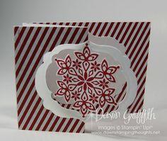 Festive Flurry stamp set, Festive Flurry Framelits , Season of Style designer paper .