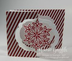 Festive Flurry stamp set, Festive Flurry Framelits , Season of Style designer paper .