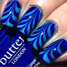 Beautiful Photo Nail Art: 44 Water marble nail art
