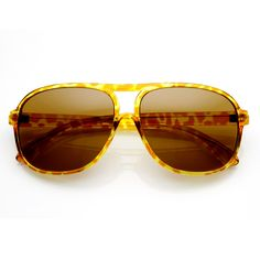Retro 1980's Original Hipster Square Aviator Sunglasses 8741