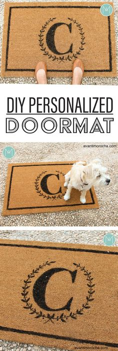 DIY Personalized Doormat –  Tapete personalizado / IKEA Trampa AvantiMorocha Blog