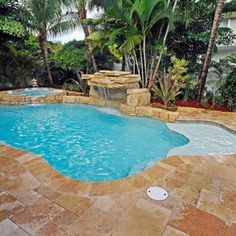 Rather than concrete, try stone on the pool deck