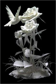 Колибри из бумаги