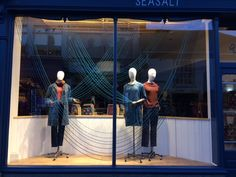Wilhelmina waves window display at Seasalt