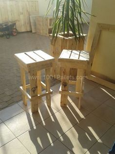 Pallet garden: Planter & stools | 1001 Pallets