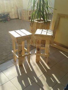 Pallet garden: Planter & stools   1001 Pallets