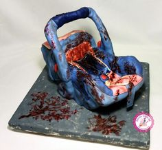 """Judith's Car Seat"" (Baking Dead Collaboration, The Walking Dead) - Cake by Becca's Edible Art"