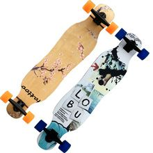US $118.90 Maple skateboard long board dancing skateboard double rocker 4 Wheeled Four wheel Boys and girls all-around Adult & Children. Aliexpress product
