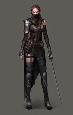 Tagged with art, fantasy, dnd, roleplay, dungeons and dragons; Fantasy Females (various artists) Fantasy Armor, Medieval Fantasy, Fantasy Female Warrior, Dark Warrior, Fantasy Women, Fantasy Girl, Fantasy Heroes, Anime Fantasy, Character Portraits