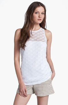 Trina Turk 'Deanna' Hexagon Open Lace Top available at #Nordstrom Brand: Trina Turk Price: $193.67 Store where it can be bought: Nordstrom