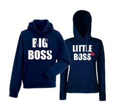Komplet mikiny s kapucňou pre páry The Real Boss Hoodies, Sweatshirts, Boss, Graphic Sweatshirt, King, Sweaters, Queen, Fashion, Moda