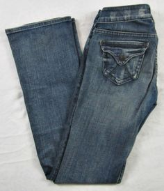 Delia's Reese Women's Medium Wash Jeans - Lightly Distressed - Size 3/4R  #dELiAs #BootCut