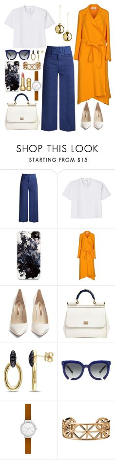 """""""Untitled #675"""" by hebaamir ❤ liked on Polyvore featuring Sea, New York, TIBI, Fifth & Ninth, Ports 1961, Sophia Webster, Dolce&Gabbana, Versace 19•69, Grey Ant, Skagen and Avon"""