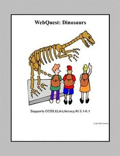 Dinosaurs were animals that lived 100 million years ago.   This is a web search designed to give students factual information about dinosaurs as they read for information using the internet. During the search they use a variety of strategies and skills that will build their strength in reading and writing as they describe the characteristics of and types of dinosaurs. I've included a word find  for vocabulary review.$