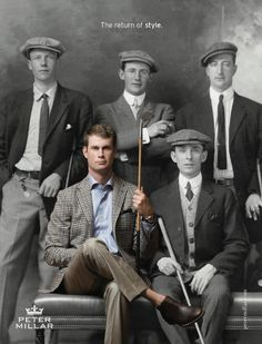 Peter Millar - killin' it with the ad featuring Harris English