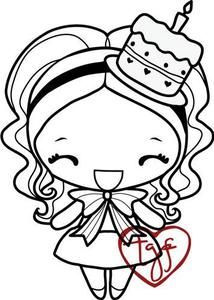*The Greeting Farm ANYA BIRTHDAY Cling Rubber Stamp