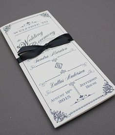 DIY Ornate Vintage #wedding program booklet template. Add your text ...