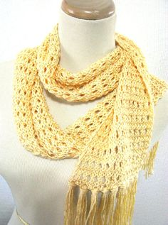 A Bit of Sunshine Hand Knit Scarf  Great for by ArlenesBoutique, $45.00