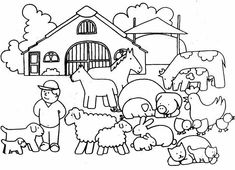 farm house coloring pages Ice Cream Coloring Pages, House Colouring Pages, Farm Animal Coloring Pages, Alphabet Coloring Pages, Printable Coloring Pages, Coloring Pages For Kids, Coloring Sheets, Adult Coloring, Dragon Coloring Page
