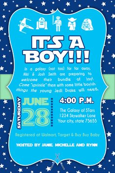 Nice If The Baxters Have A Baby... Star Wars Baby Shower Invitation / DIY