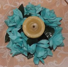 Mira este artículo en mi tienda de Etsy: https://www.etsy.com/listing/265473239/candle-ring-6-aqua-for-wedding