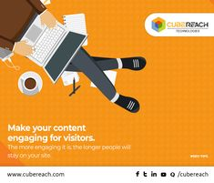 What makes people stay for a long on your website?  It's definitely the fresh and unique contents which engage visitors to stay longer and read the complete information's provided.  It's not a matter how long your #content is. It's all about how unique and engaging your content is. #seotips #SEO #CubeReach