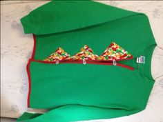 Ladies Sweatshirt Cardigan Green & Red with Chili Peppers Size Medium by AlwaysInStitchesCo on Etsy