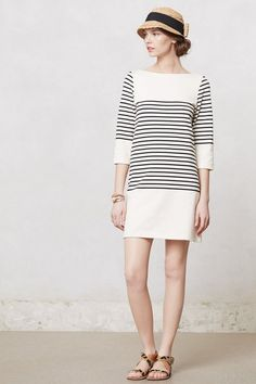 Easy weekend shift dress.  More stripes!