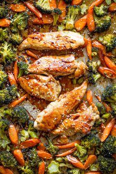 Sheet Pan Korean Chicken and Vegetables are a delicious and easy  Mein Blog: Alles rund um die Themen Genuss & Geschmack  Kochen Backen Braten Vorspeisen Hauptgerichte und Desserts