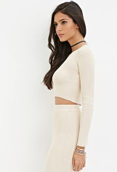 Ribbed Knit Crop Top - Shop All - 2000162139 - Forever 21 EU English