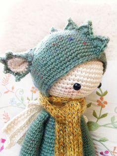 Crochet Pattern Doll DIRK the dragon / dinosaur PDF by lalylala, €5.50