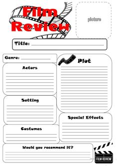 Film Review Template  Google Search   Pinteres