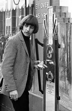 Ringo Starr on the set of The Beatles movie HELP