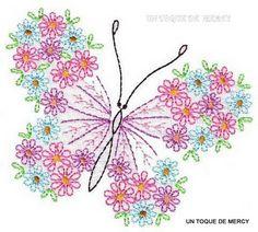 Mariposa para bordar