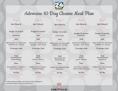 Advocare 10 Day Cleanse Meal Plan: A Meal Plan for the first 10 Days of the 24  Day Challenge: