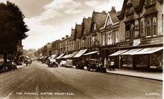 Sutton Coldfield, Birmingham, Real Photographic Postcard, Street Scene, RP