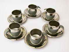 Original Vintage Italian cups 1970 grey STELLA by ilivevintage, $60.00
