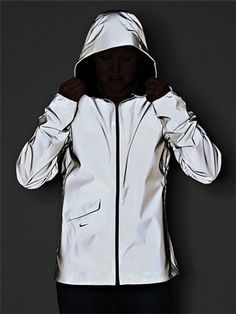keep safe: nike vapor flash 100% reflective and waterproof running jacket