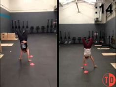 Watch Alexis and Ty go head-to-head, seeing who can do the most handstand figure 8s in 30 seconds. Pretty amazing.
