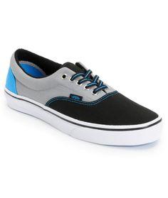 13b4b13cfe Vans Era Black   Frost Tri-Tone Canvas Skate Shoe