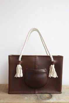 Eatable of Many Orders Pocket Tote Bag In Brown | Oroboro Store | Brooklyn, New York