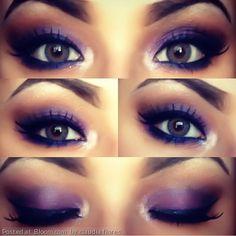 By claudia flores. #smokeyeye #purple #eyeshadow  @BLOOM.COM