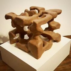Another nonobjective sculpture. This time it is clay and not plaster. Its till wet then to fire it. by blakedill6