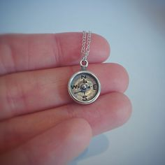 Compass Necklace, Pendant Necklace, Sterling Silver Chains, Arrow, Online Shopping, Etsy, Jewelry, Jewlery, Tv Shopping