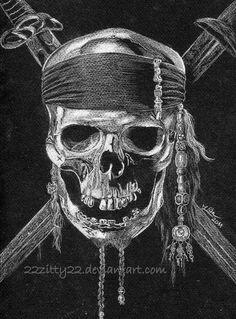 Pirate skull by 22Zitty22                                                       …