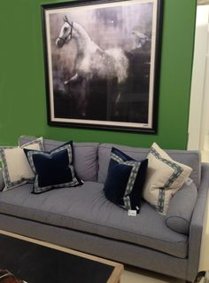 Lacefield Designs Velvet Pillows in the JDouglas showroom Atlanta  #velvet #pillows  www.lacefielddesigns.com
