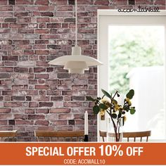 Removable Wallpaper Vintage Brick Self Adhesive Fabric Wallpaper Repositionable