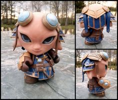 Check out this adorable (yet fierce) Guild Wars 2: Zojja custom Munny by ~liadys