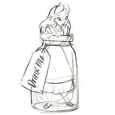 One more of Steve's Disney Story 2012 Christmas ornament sketches -- Alice in Wonderland