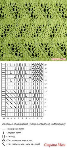 Красивый узор Japanese Feather Stitch - Вязание - Страна Мам